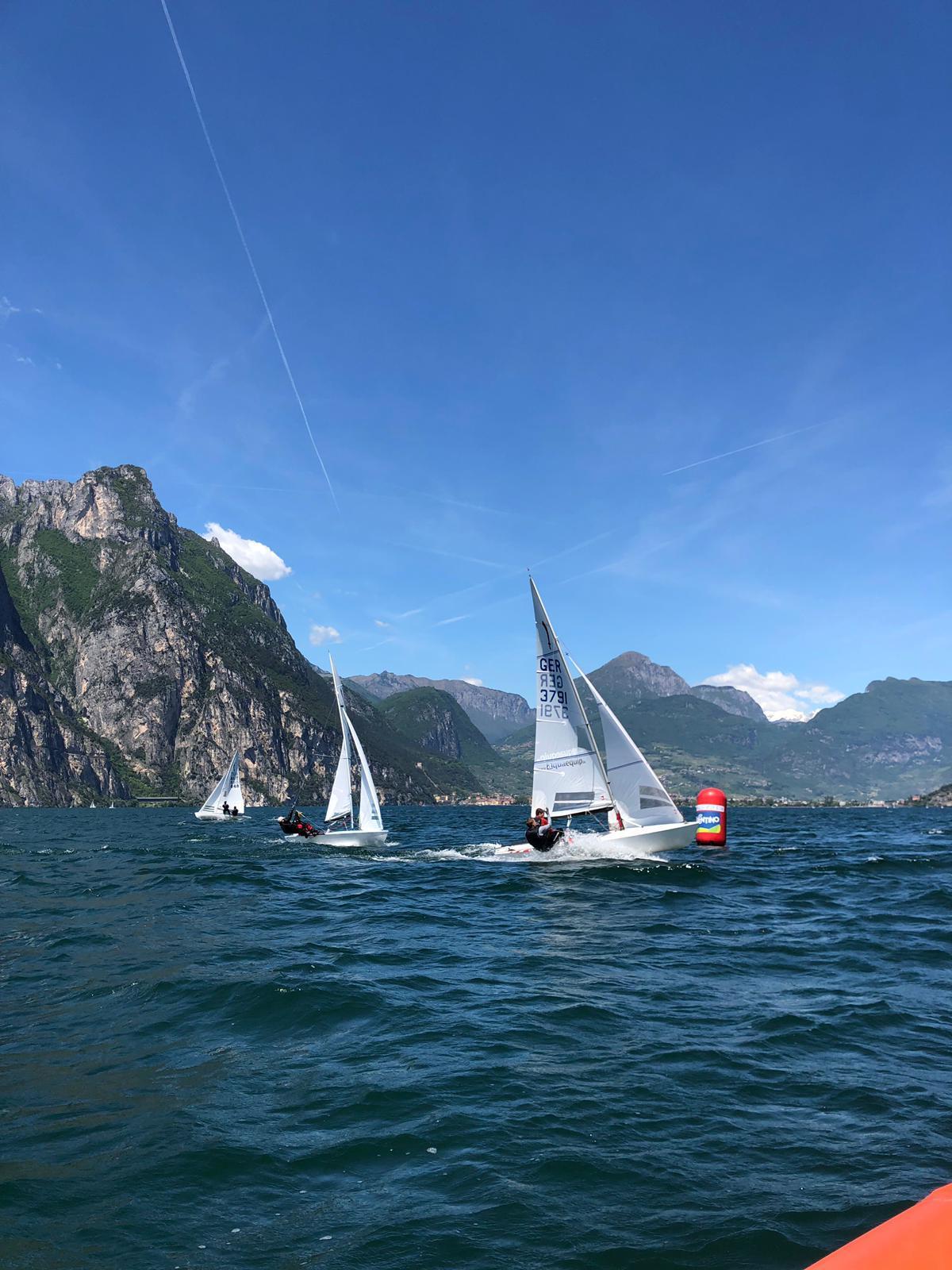 Un bel weekend di vela e otto regate completate per le flotte Dyas, 505 e Korsar alla Riva Cup 2019